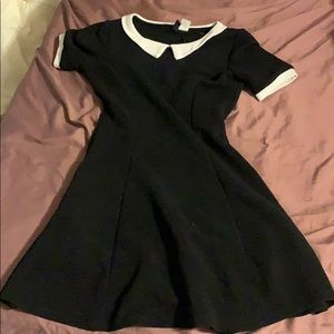 H&M white collAr black dress size 36 6 divided